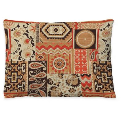 Laural Home Southwest Story Fleece Dog Bed in Orange