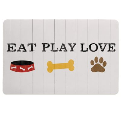 "Laural Home® ""Eat Play Love"" Pet Mat"