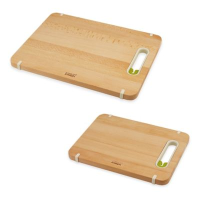 Joseph Joseph® Large Slice and Sharpen Wood Chopping Board with Knife Sharpener