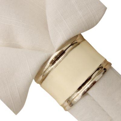 White Napkin Rings