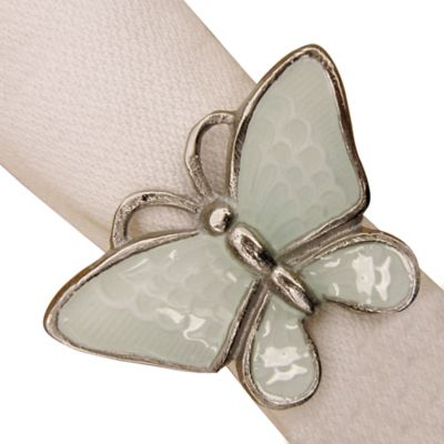 Butterfly Napkin Ring in Mint