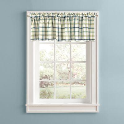 Bistro Plaid Window Valance