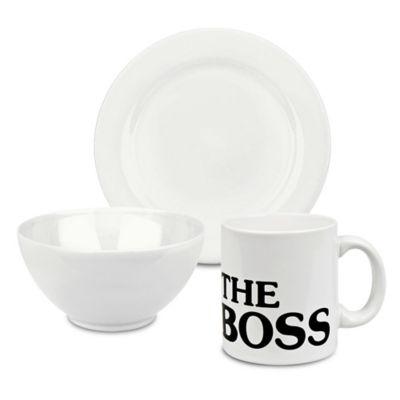 Waechtersbach Fun Factory 3-Piece The Boss Breakfast Set