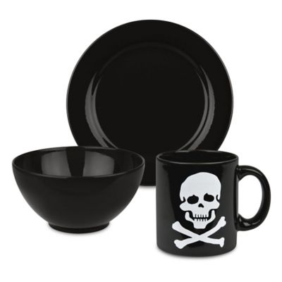 Waechtersbach Fun Factory 3-Piece Skull and Crossbones Breakfast Set