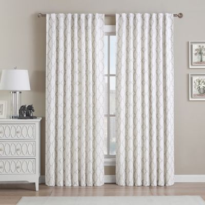 Be Artistic Ellis Oval 63-Inch Rod Pocket/Back Tab Window Curtain Panel in Slate