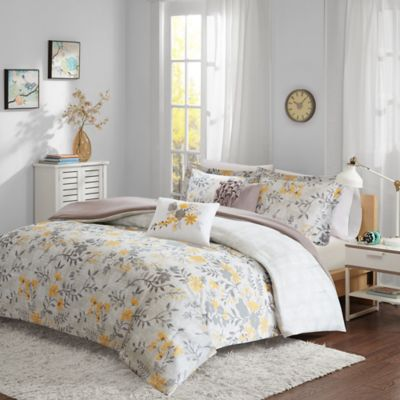 Intelligent Design Florence 4-Piece Twin/Twin XL Comforter Set in Yellow