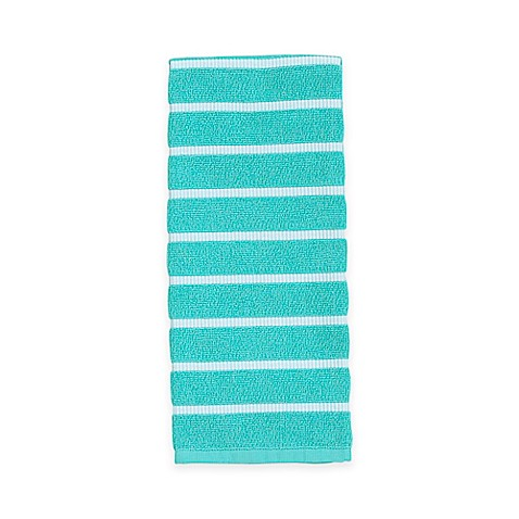 Buy kate spade new york grosgrain stripe kitchen towel in for Bed bath and beyond kate spade