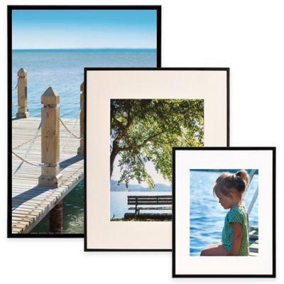 Artcare™ 11-Inch x 17-Inch Aluminum Picture Frame in Black