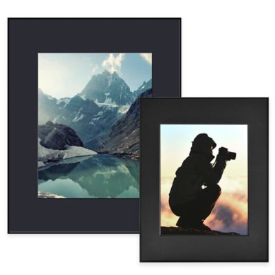 Artcare™ 8-Inch x 10-Inch Picture Frame in Black with Black Mat