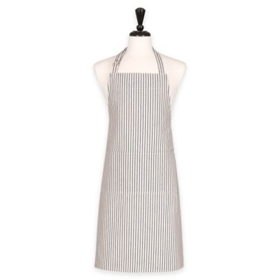 Boss Pinstripe Apron in Cream