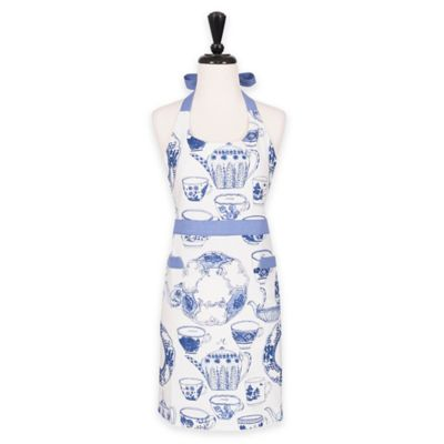 Molly Hatch Tea Garden Apron in Blue/White