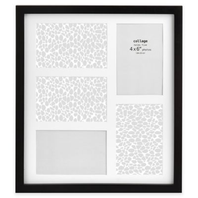 Prinz Soho 5-Opening Matted Photo Collage Frame in Black