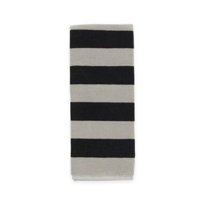 kate spade new york Rugby Stripe Kitchen Towel in Black/Grey