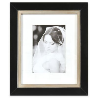 Artcare™ Taylor 5-Inch x 7-Inch Picture Frame in Black/Champagne