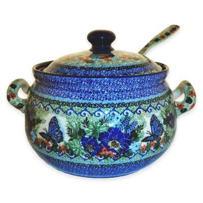 Ceramika Artystyczna Polish Pottery Soup Tureen with Ladle