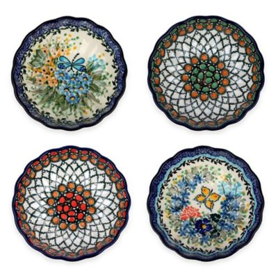 Ceramika Artystyczna Polish Pottery Condiment Nesting Bowls (Set of 4)