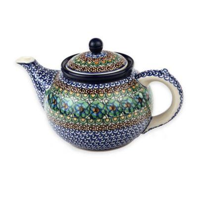 Ceramika Artystyczna Polish Pottery Teapot in Green