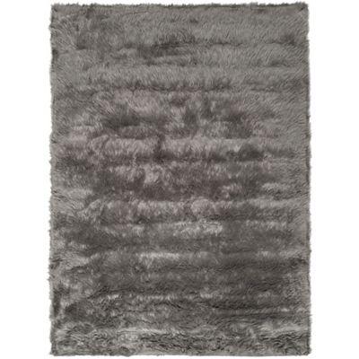 Safavieh Faux Sheep Skin 4-Foot x 6-Foot Area Rug in Grey