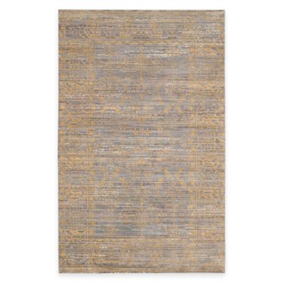 Safavieh Valencia Lines 4-Foot x 6-Foot Area Rug in Grey/Gold