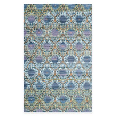 Safavieh Valencia Mirrors 4-Foot x 6-Foot Area Rug in Lavender/Gold