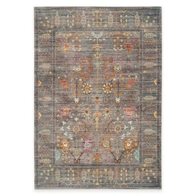 Safavieh Valencia Forest 2-Foot 3-Inch x 8-Foot Runner in Grey/Multi