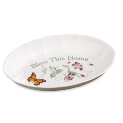 Lenox® Butterfly Meadow® Bless This Home 11-Inch L Bread Tray