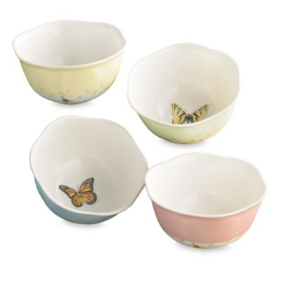 Lenox® Butterfly Meadow® 4.75-Inch Dessert Bowl (Set of 4)