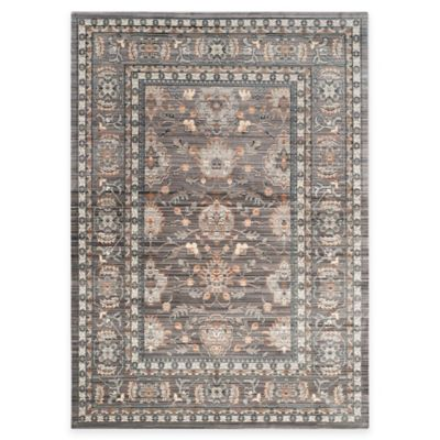 Safavieh Valencia Double Border 4-Foot x 6-Foot Area Rug in Green/Purple