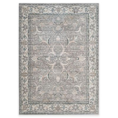 Safavieh Valencia Curve 5-Foot x 8-Foot Area Rug in Mauve/Cream