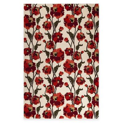M.A. Trading Fiore 7-Foot 10-Inch x 9-Foot 10-Inch Area Rug in White/Red
