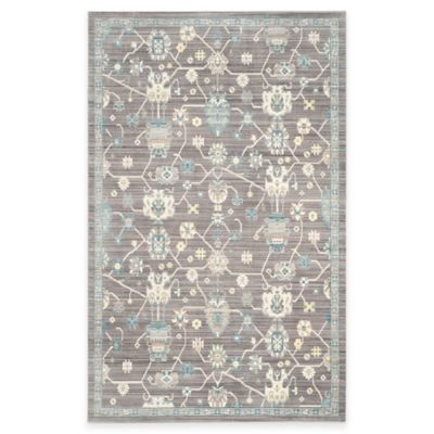 Safavieh Valencia Global Geo 5-Foot x 8-Foot Area Rug in Mauve