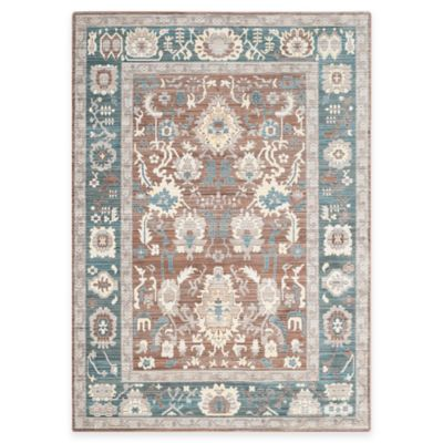Safavieh Valencia Anja 5-Foot x 8-Foot Area Rug in Chocolate/Alpine
