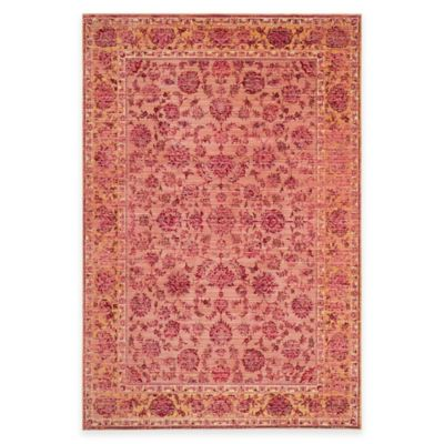 Safavieh Valencia Theo 4-Foot x 6-Foot Area Rug in Pink/Multi