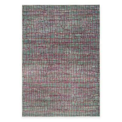 Safavieh Valencia Cracked 8-Foot x 10-Foot Area Rug in Green/Red