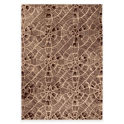 M.A. Trading Labyrinth 5-Foot 2-Inch x 7-Foot 6-Inch Area Rug in Beige/Brown