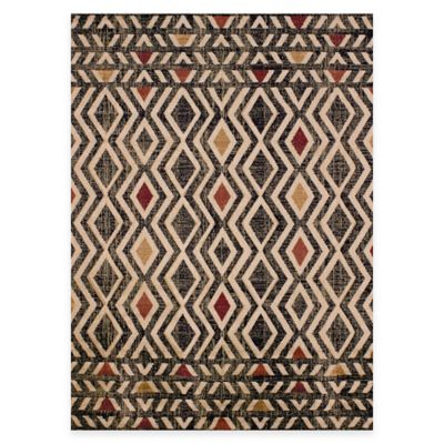 United Weavers Lucent 5-Foot 3-Inch x 7-Foot 2-Inch Indoor/Outdoor Area Rug in Natural