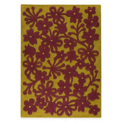 M.A. Trading Newport 5-Foot 6-Inch x 7-Foot 10-Inch Area Rug in Green/Plum