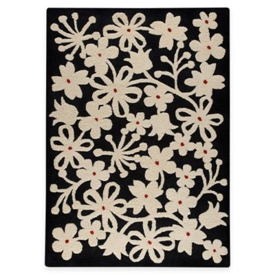 M.A. Trading Newport 5-Foot 6-Inch x 7-Foot 10-Inch Area Rug in Charcoal/White
