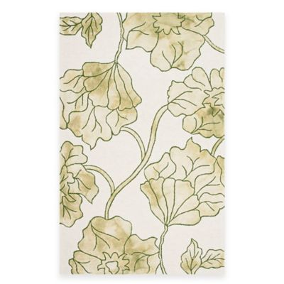 Safavieh Dip Dye Floral 2-Foot x 3-Foot Accent Rug in Ivory/Orange