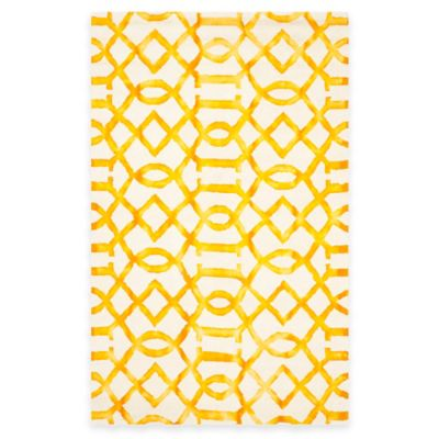 Safavieh Dip Dye Entwine 4-Foot x 6-Foot Area Rug in Ivory/Gold