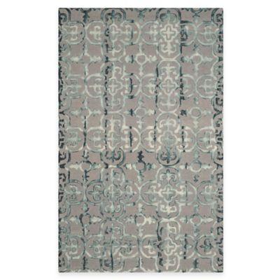 Safavieh Dip Dye Clover 4-Foot x 6-Foot Area Rug in Grey