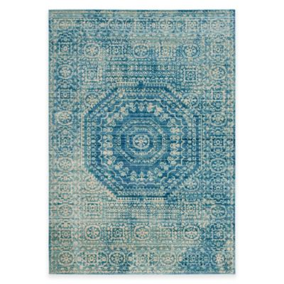 Safavieh Valencia Center Medallion 4-Foot x 6-Foot Area Rug in Blue Multi