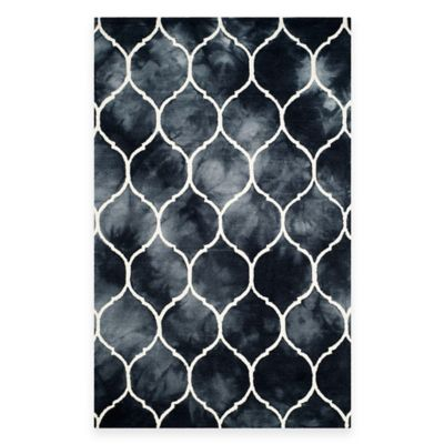 Safavieh Dip Dye Lattice 8-Foot x 10-Foot Area Rug in Orange/Ivory