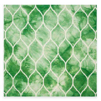Safavieh Dip Dye Lattice 7-Foot Square Area Rug in Green/Ivory
