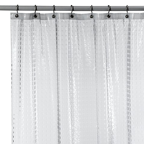 metro clear vinyl shower curtain bed bath beyond. Black Bedroom Furniture Sets. Home Design Ideas