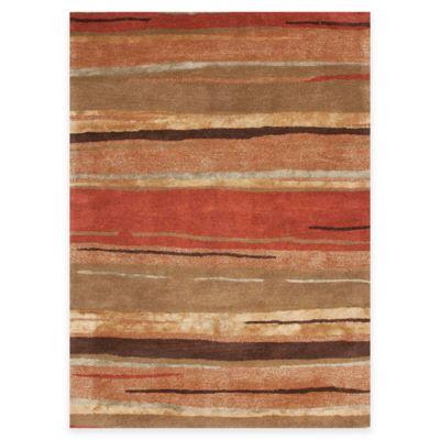 Jaipur Baroque Bernini 3-Foot 6-Inch x 5-Foot 6-Inch in Orange/Brown