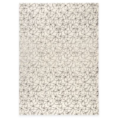 Madeira 6-Foot 6-Inch Round Area Rug in White/Grey