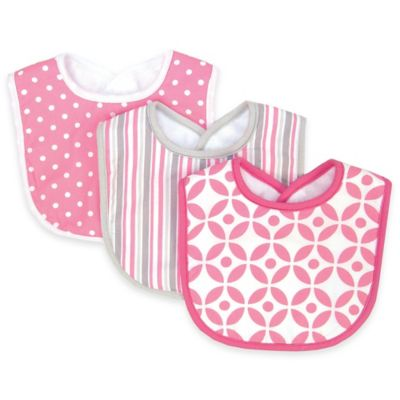 Trend Lab® 3-Pack Lilly Bib Set in Pink