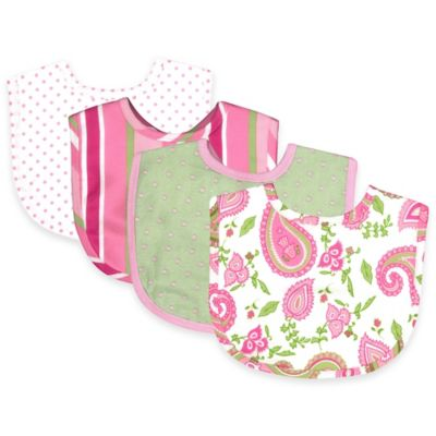 Trend Lab® 4-Pack Paisley Park Bouquet Bib Set