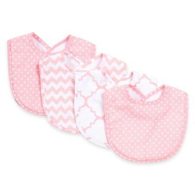 Trend Lab® 4-Pack Pink Sky Bib Set